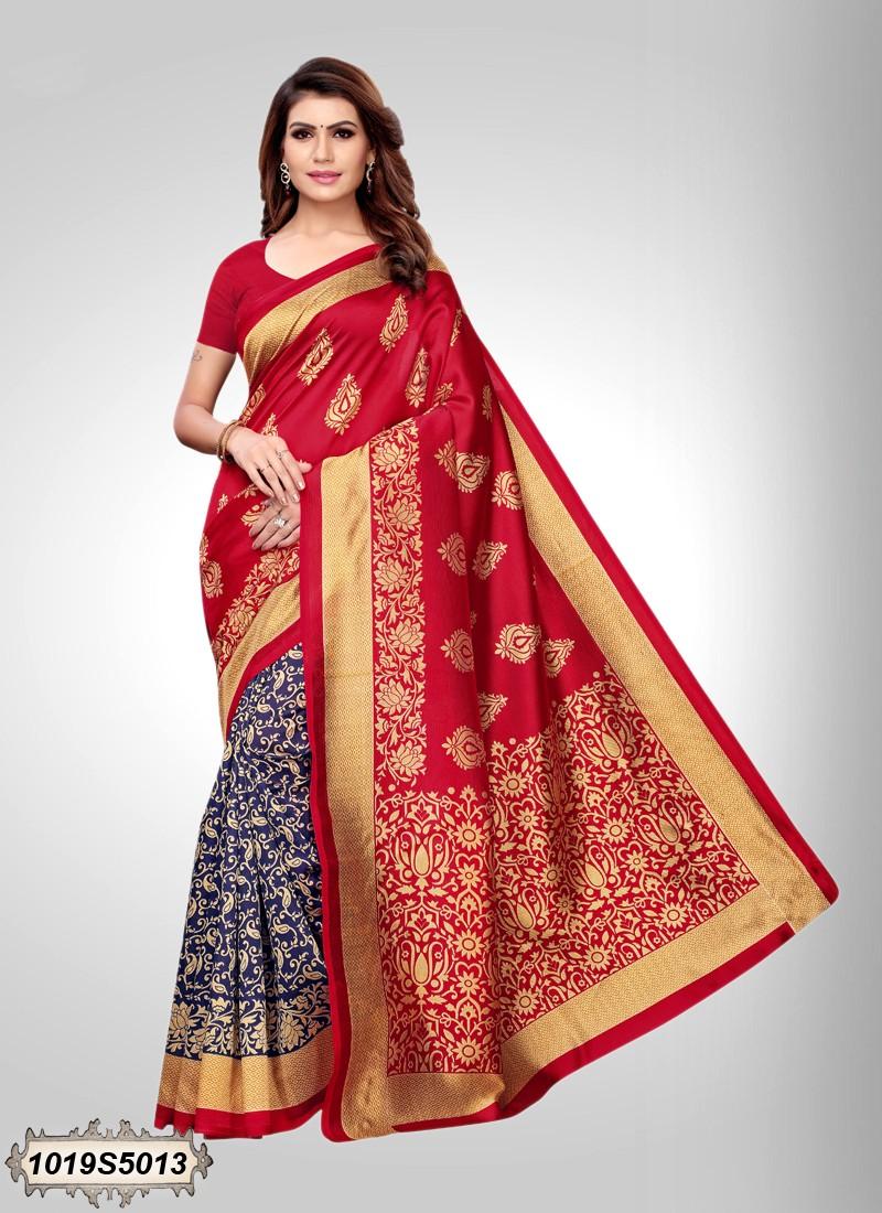 Saree hindu rojo
