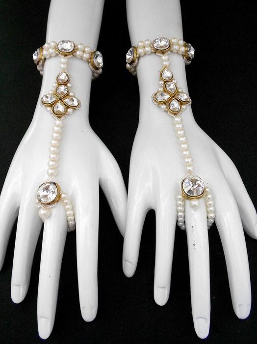 Pulsera de dedo blanca
