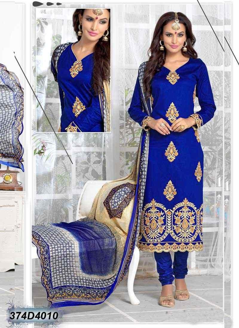 salwar kameez azul