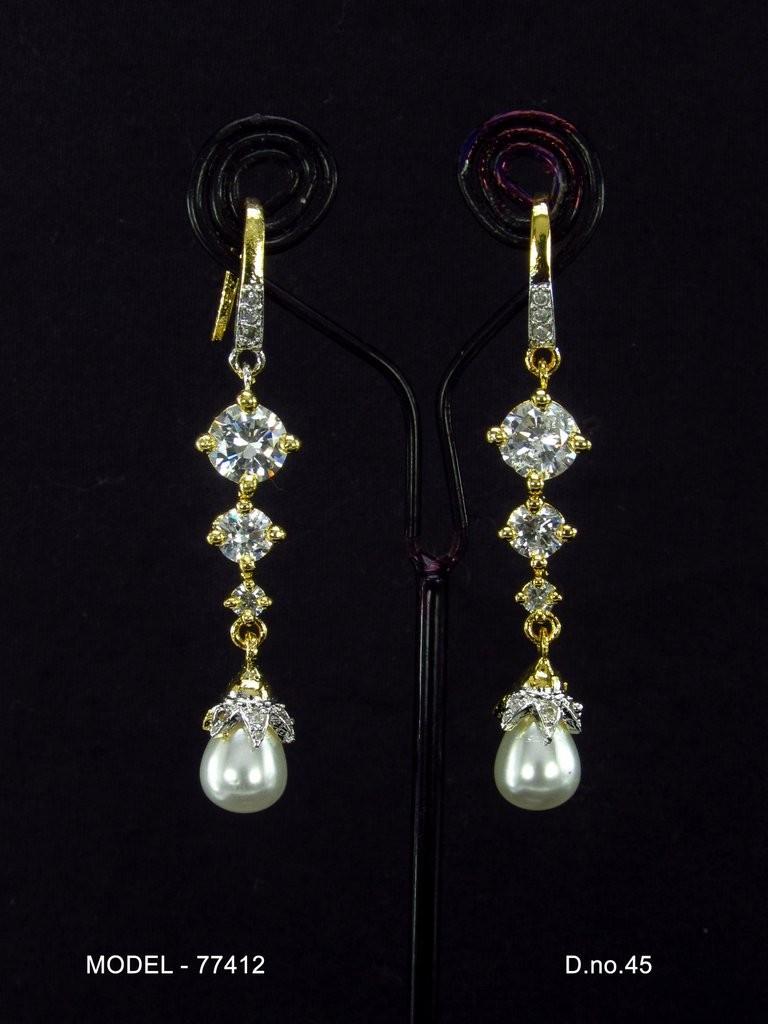 pendientes novia perla blanca