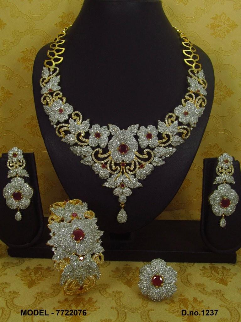 Conjunto joyería india flores