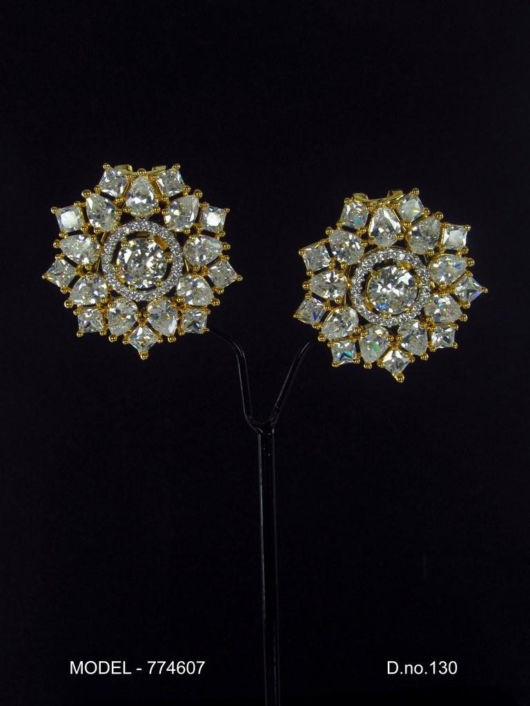 pendientes cristales de circonita brillantes