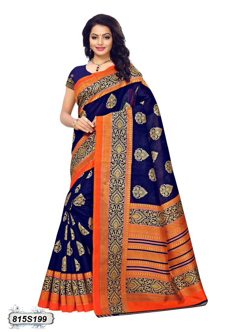 saree orange traditional