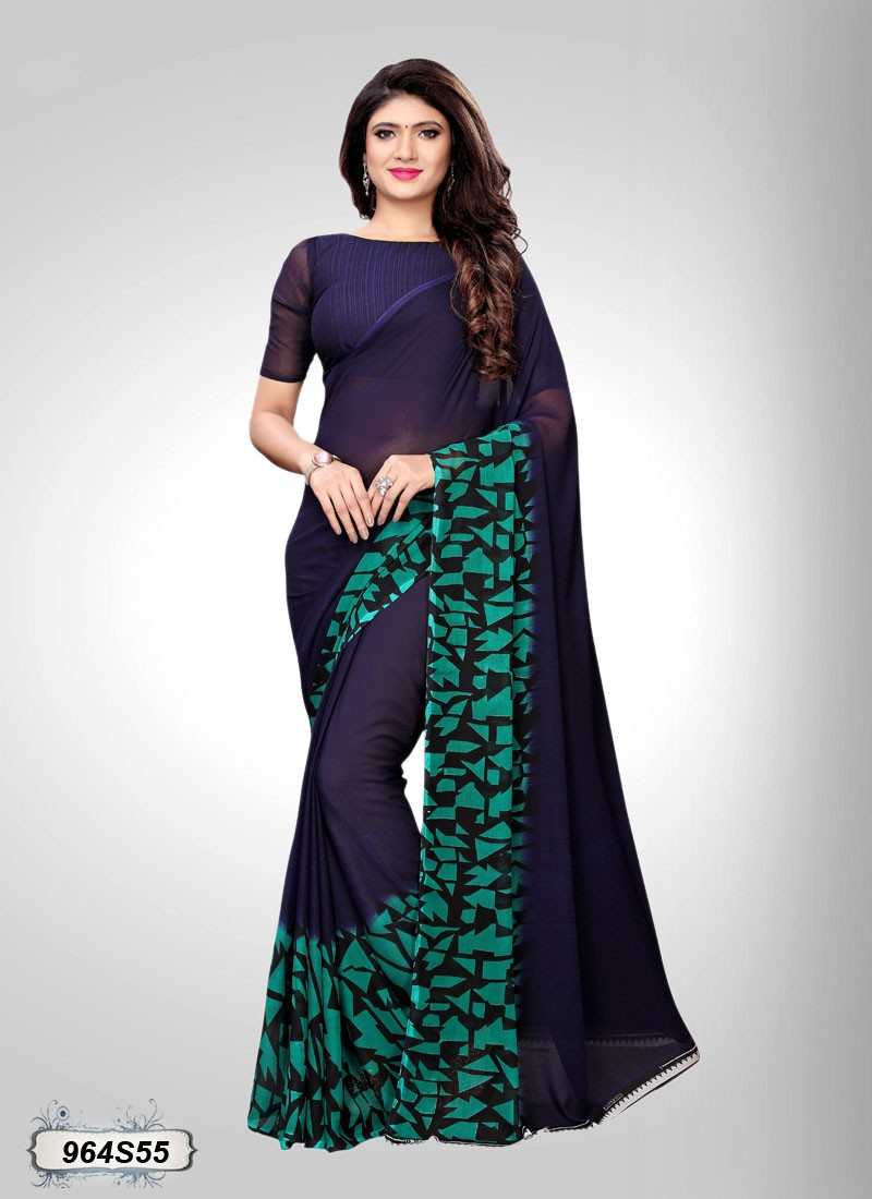saree estampado verde esmeralda