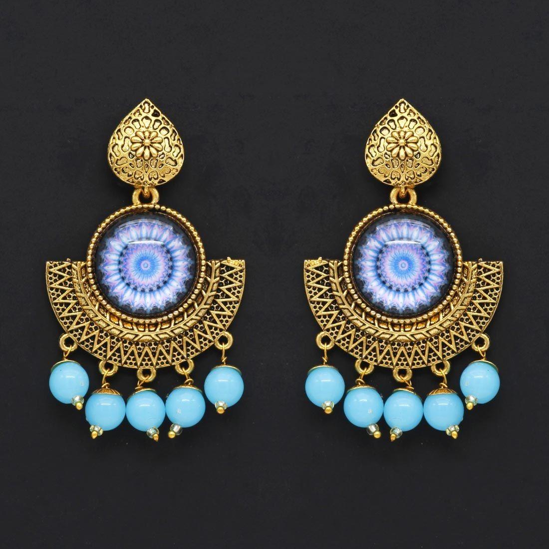 Pendientes Mandala Azul Cielo