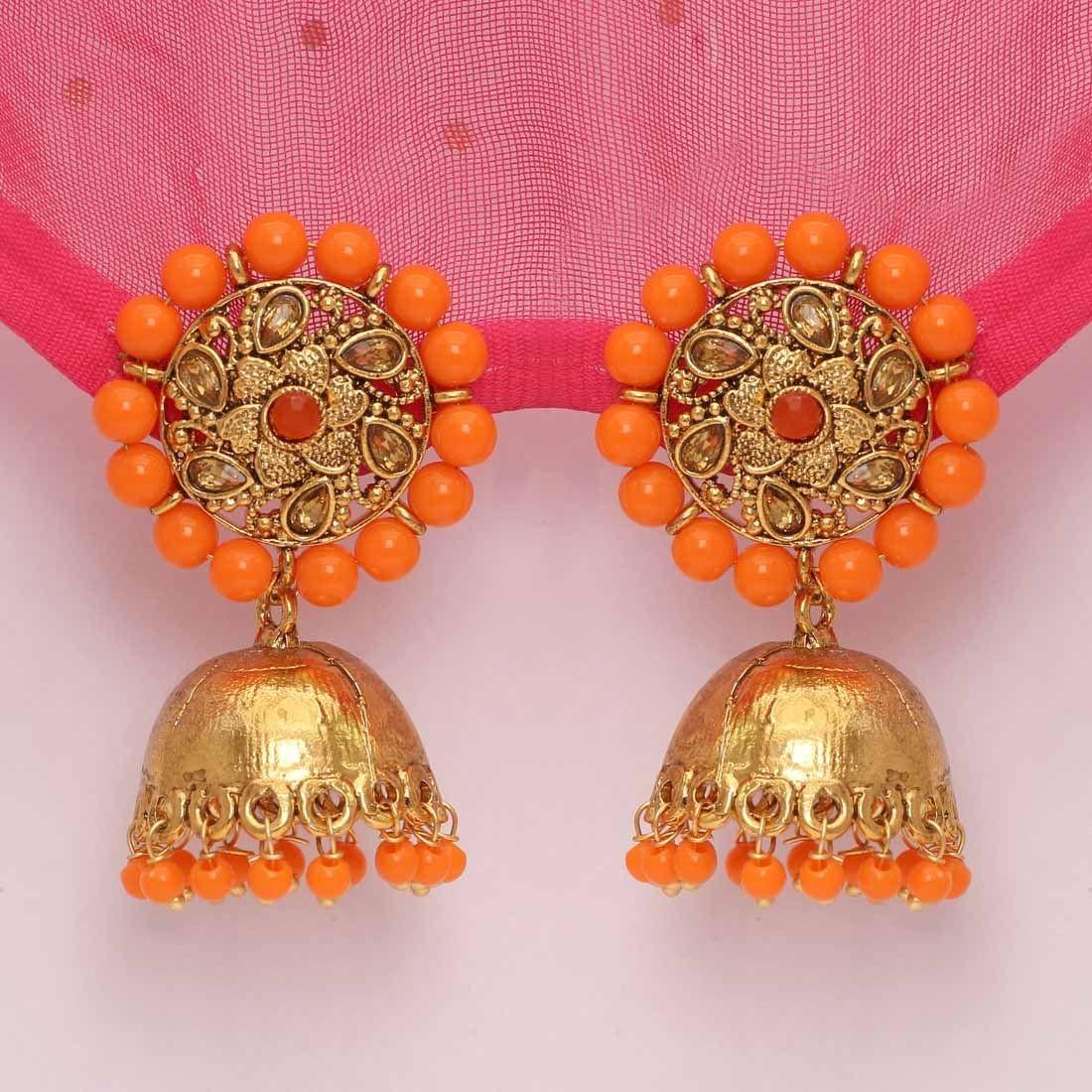 Pendientes campana naranja