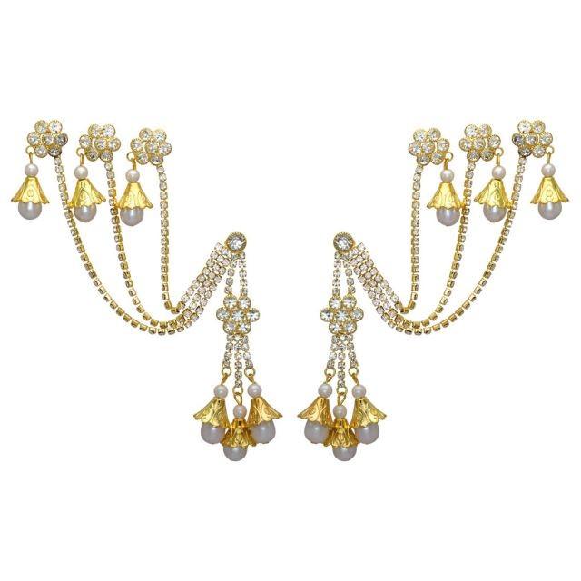 Pendientes con campanas y perlas