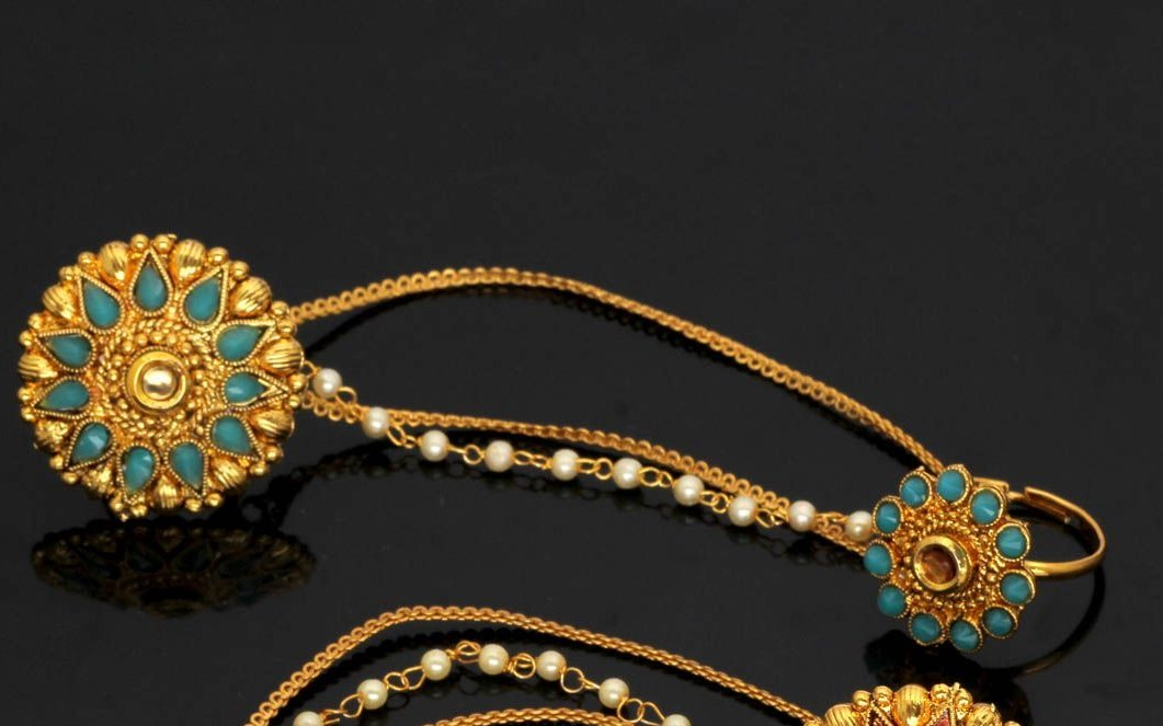 Anillos indios cadenas turquesa