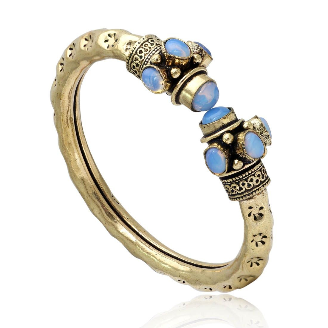 Pulsera hindu piedras azules