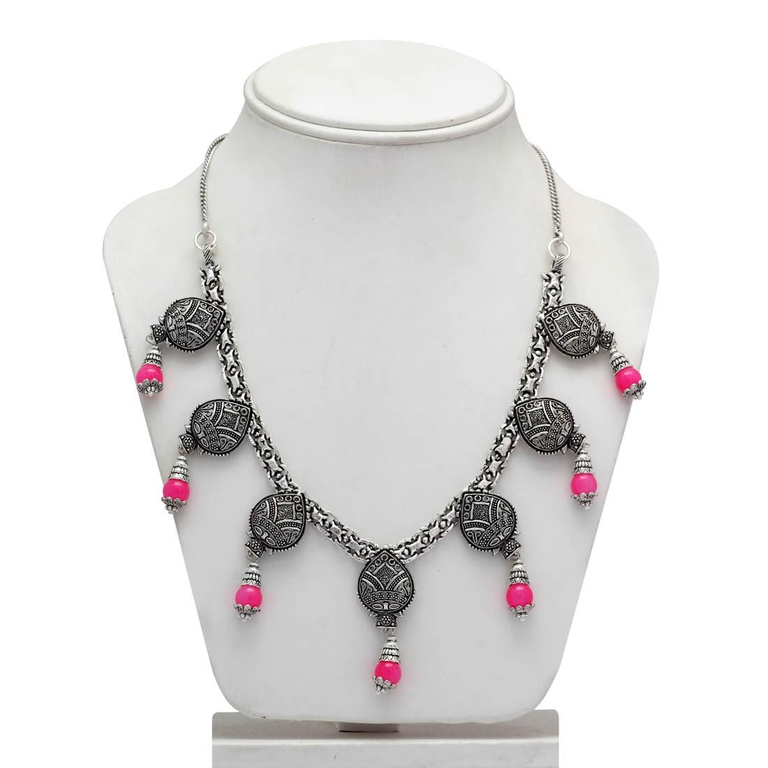 Collar etnico rosa Barbie