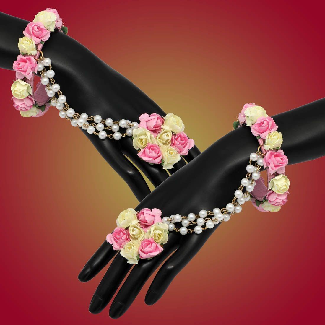 Pulseras Indias con anillo Rosas