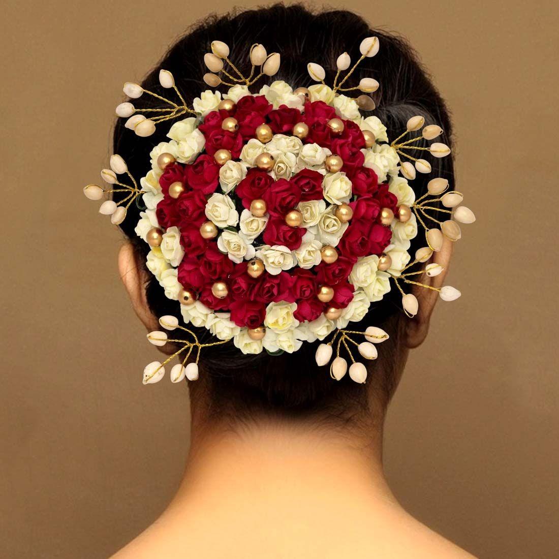 Moño de flores indias