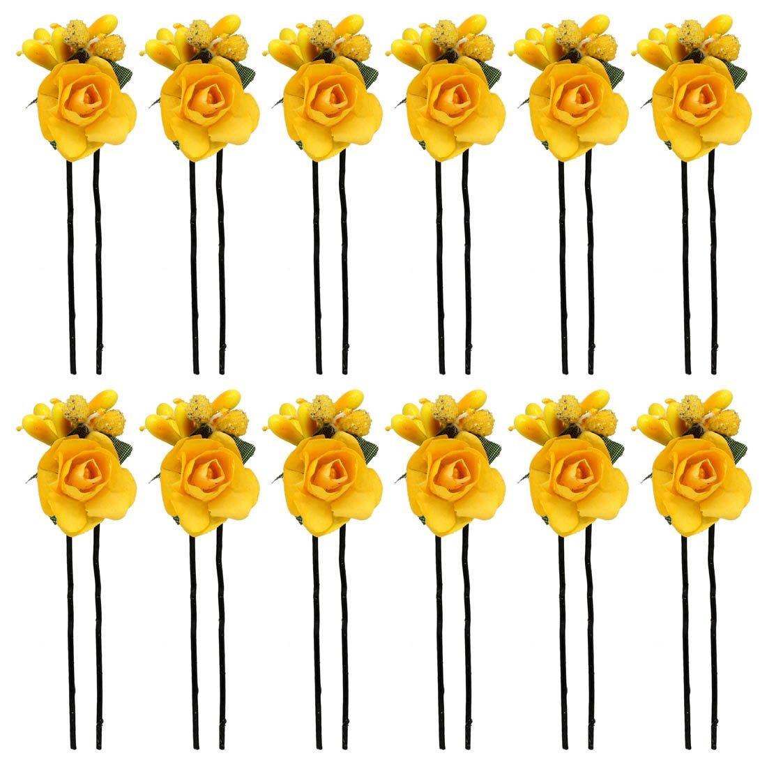 Pack horquillas Rosas Amarillas