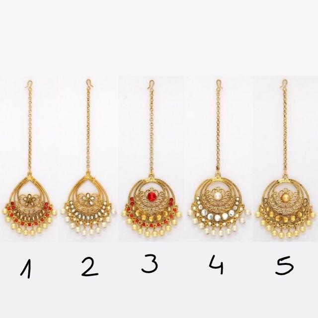 Tikka hindu dorada y perlas