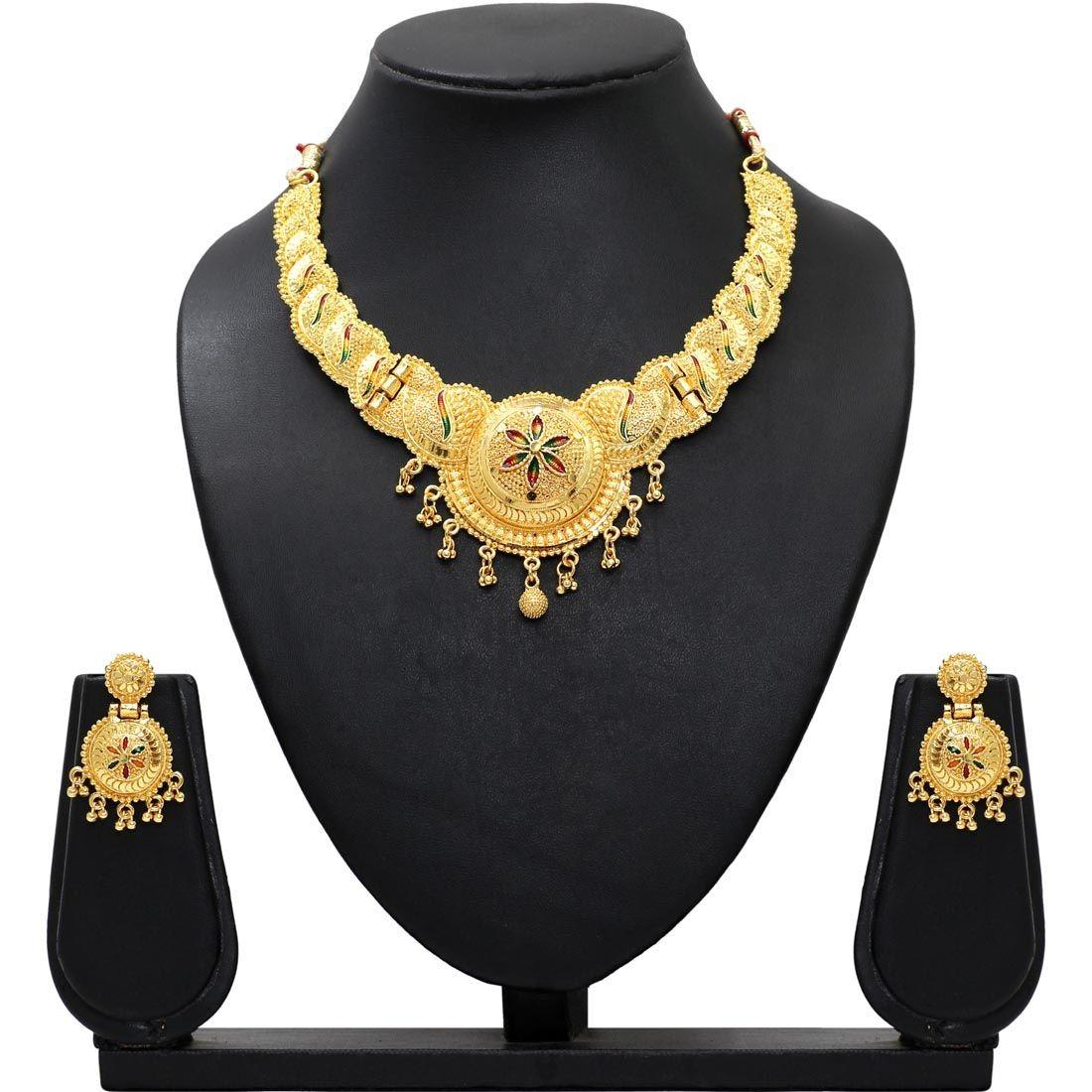Conjunto collar y pendientes hindues