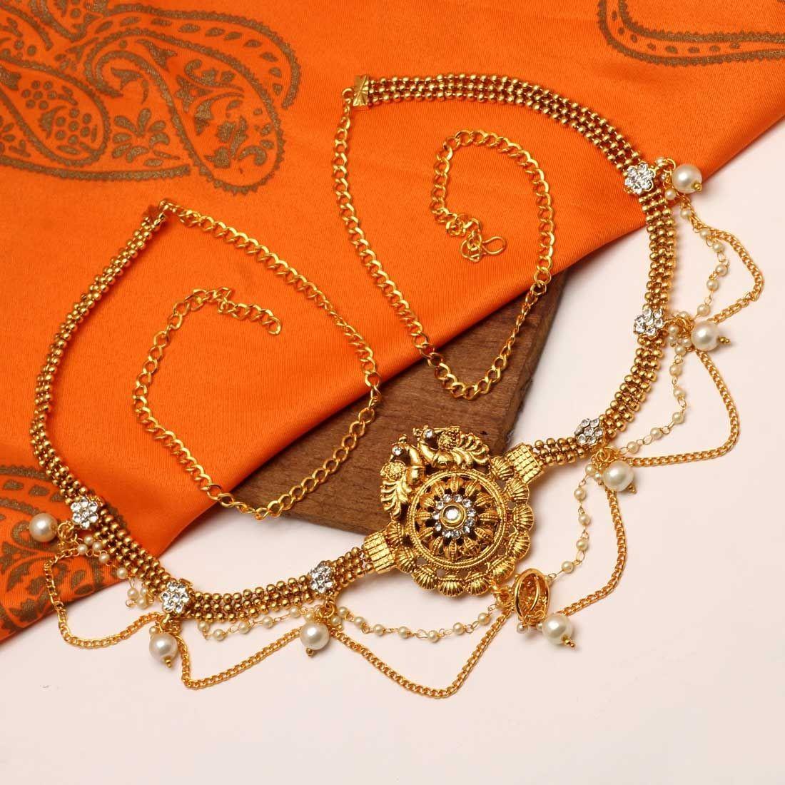 Cinturón hindu dorado