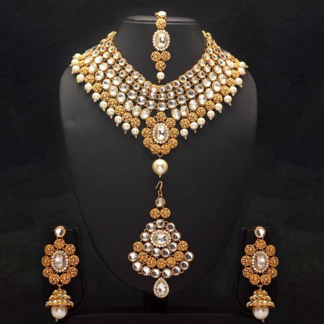 Conjunto perlas y piedras (-20% descuento)