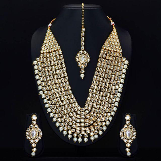 Conjunto collar largo novia hindu