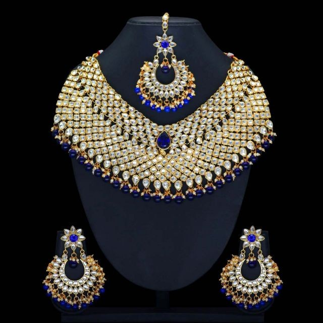 Conjunto reina india azul