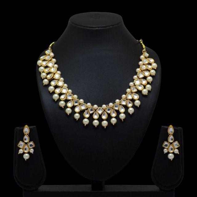 Conjunto elegante perlas