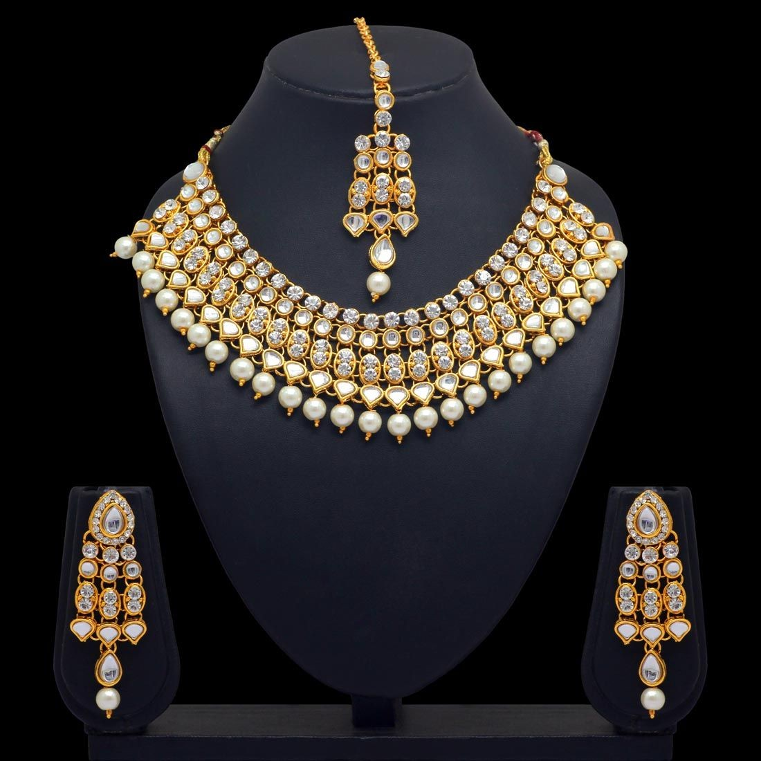 Conjunto blanco perlas