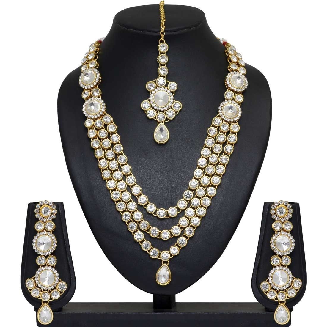 Conjunto India piedras brillantes