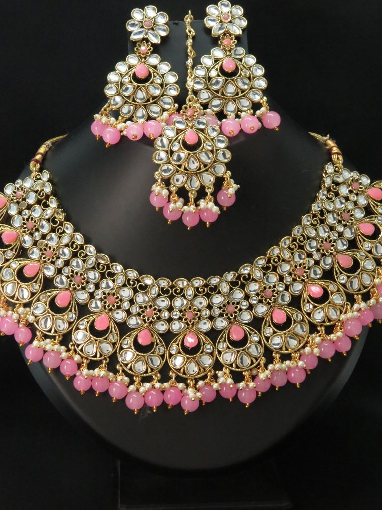 Conjunto Joyas indias rosa