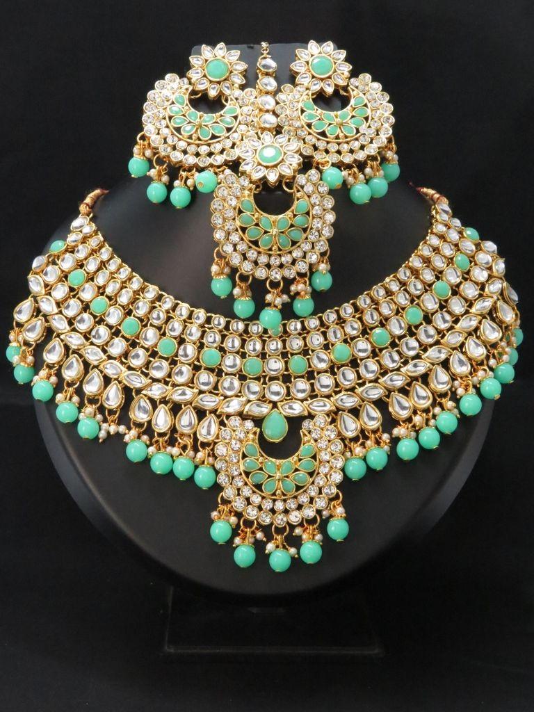 Conjunto novia india verde menta