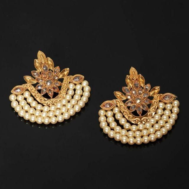 Pendientes cristal y perlas