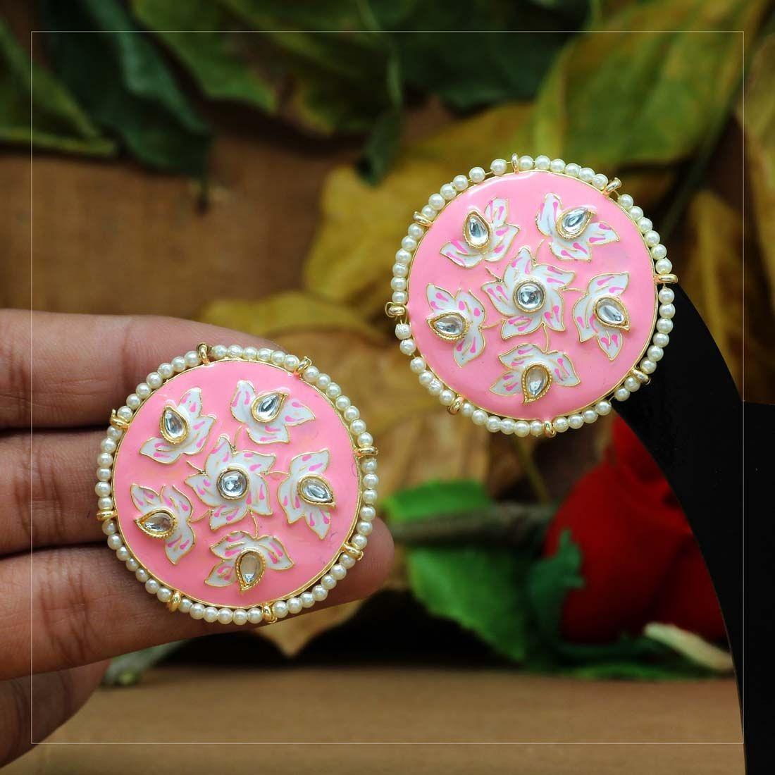 Pendientes indian pink