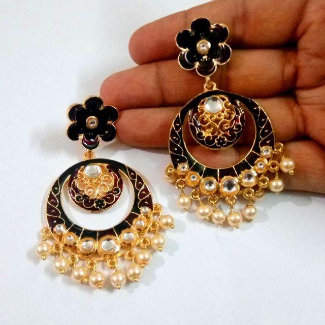 Pendientes Negros Vintage hindu
