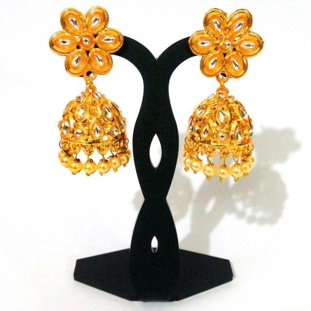 Pendientes flor y campana india