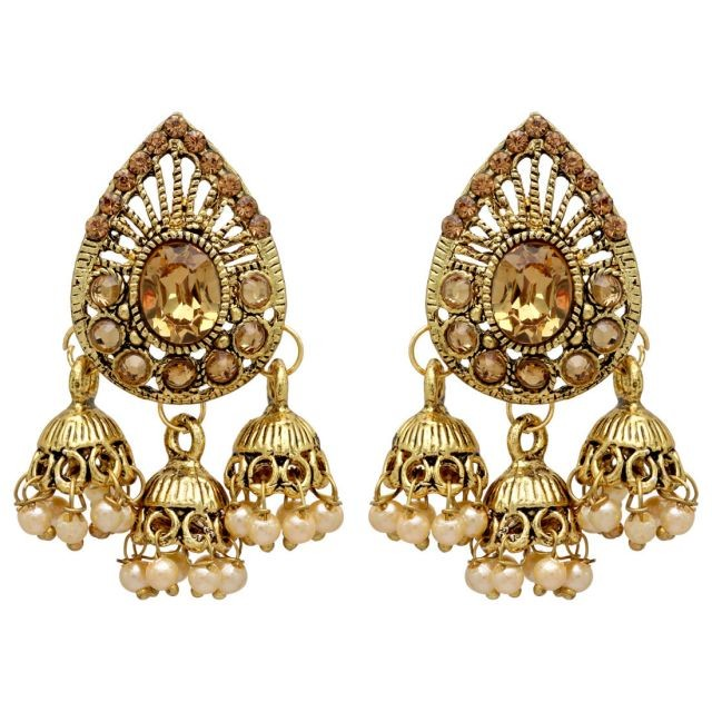 pendientes color oro con campanas