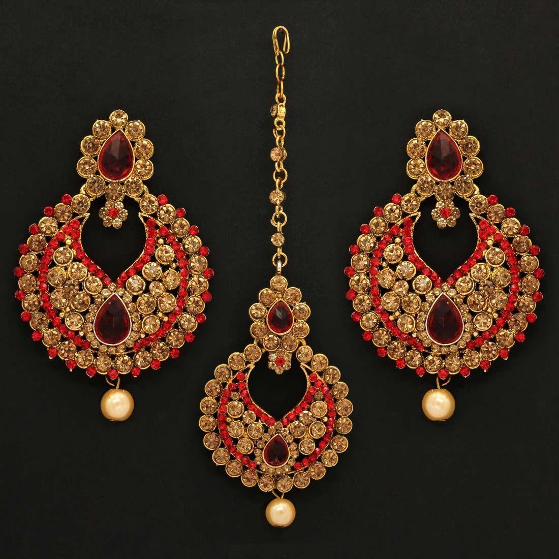 Pendientes india y joya frente Rani