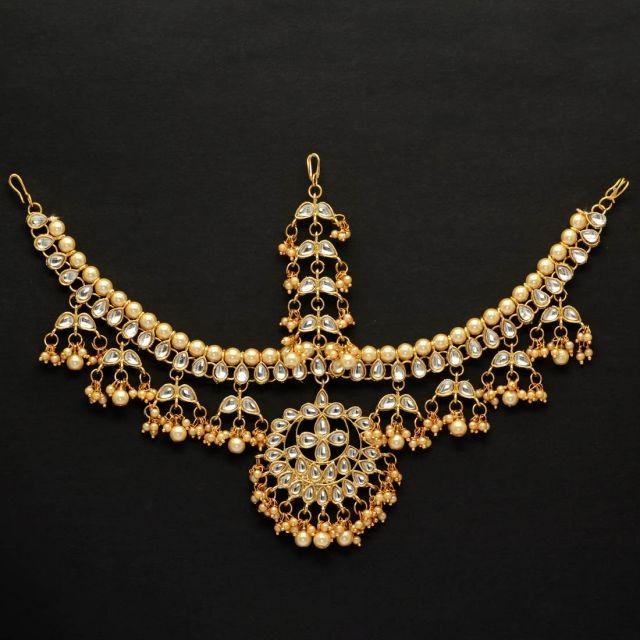 tiara pedrería y perlas