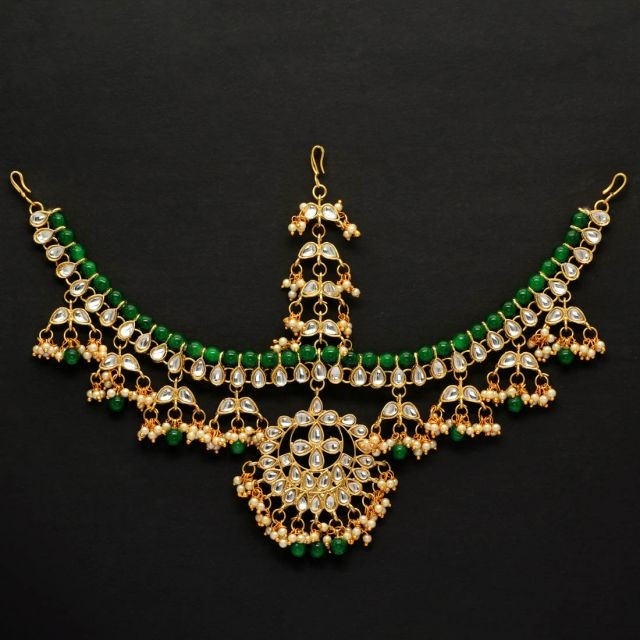 tiara verde esmeralda