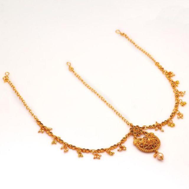 tiara dorada princesa hindu