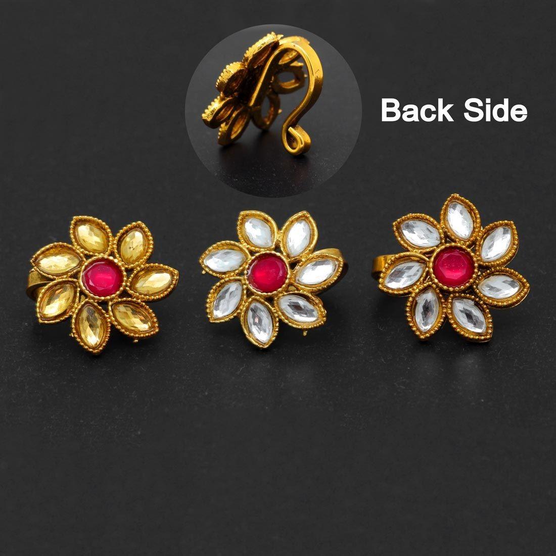 Piercing nariz flor hindu