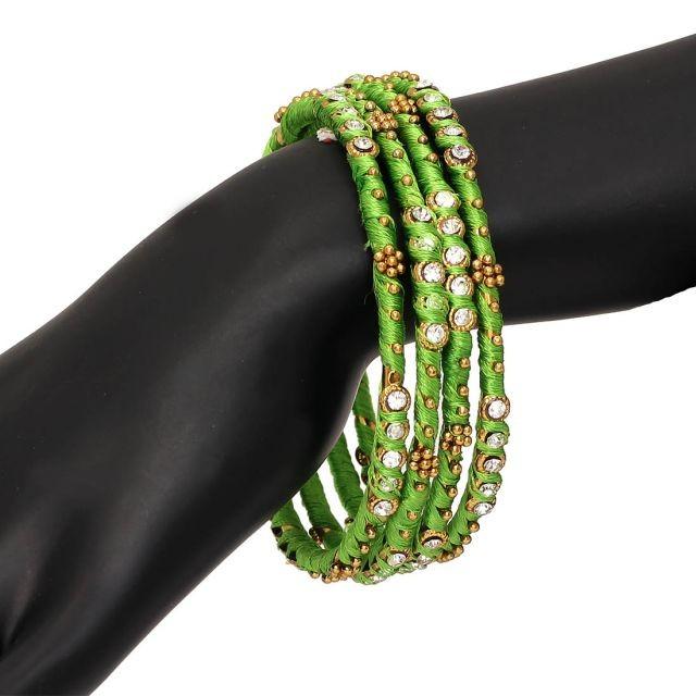 Conjunto pulseras verde
