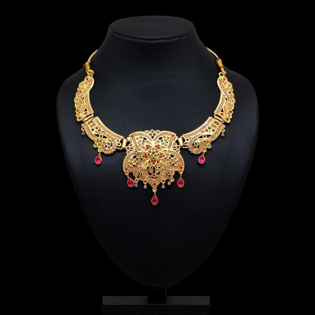 Collar hindu flor dorada