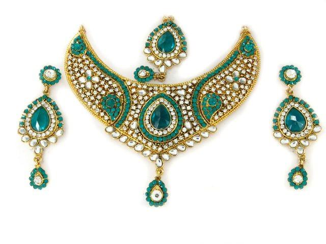 Conjunto joyas indias turquesa