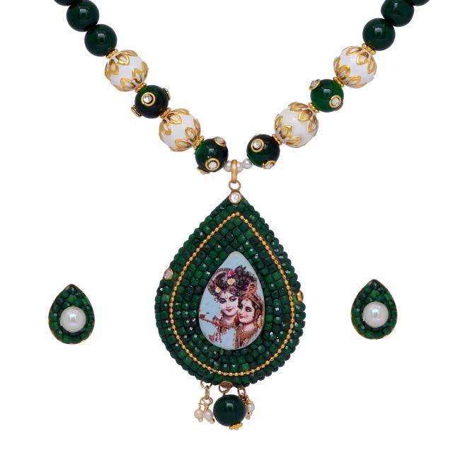 collar hindú Dioses Krishna y Radha