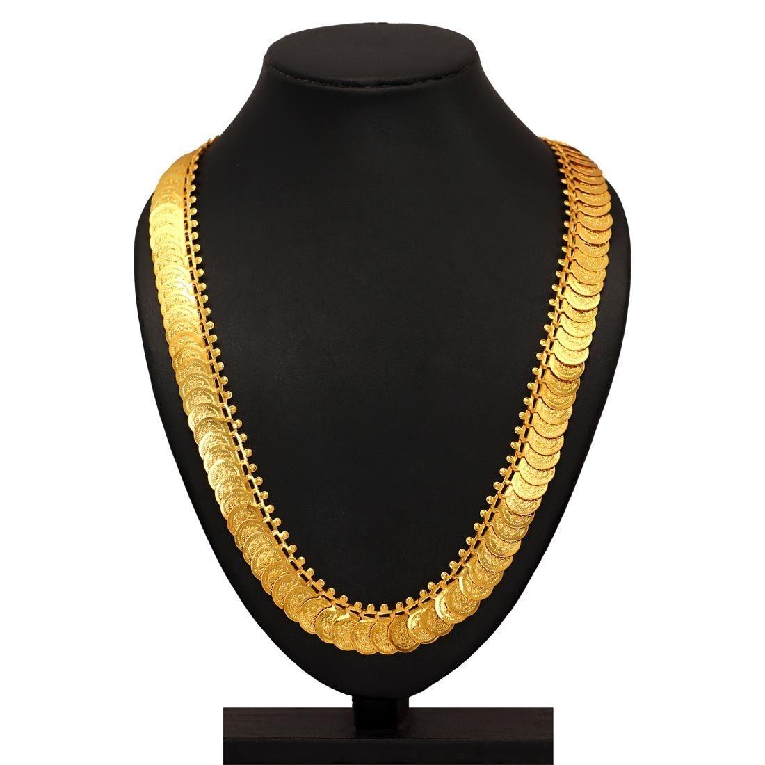 Collar monedas doradas