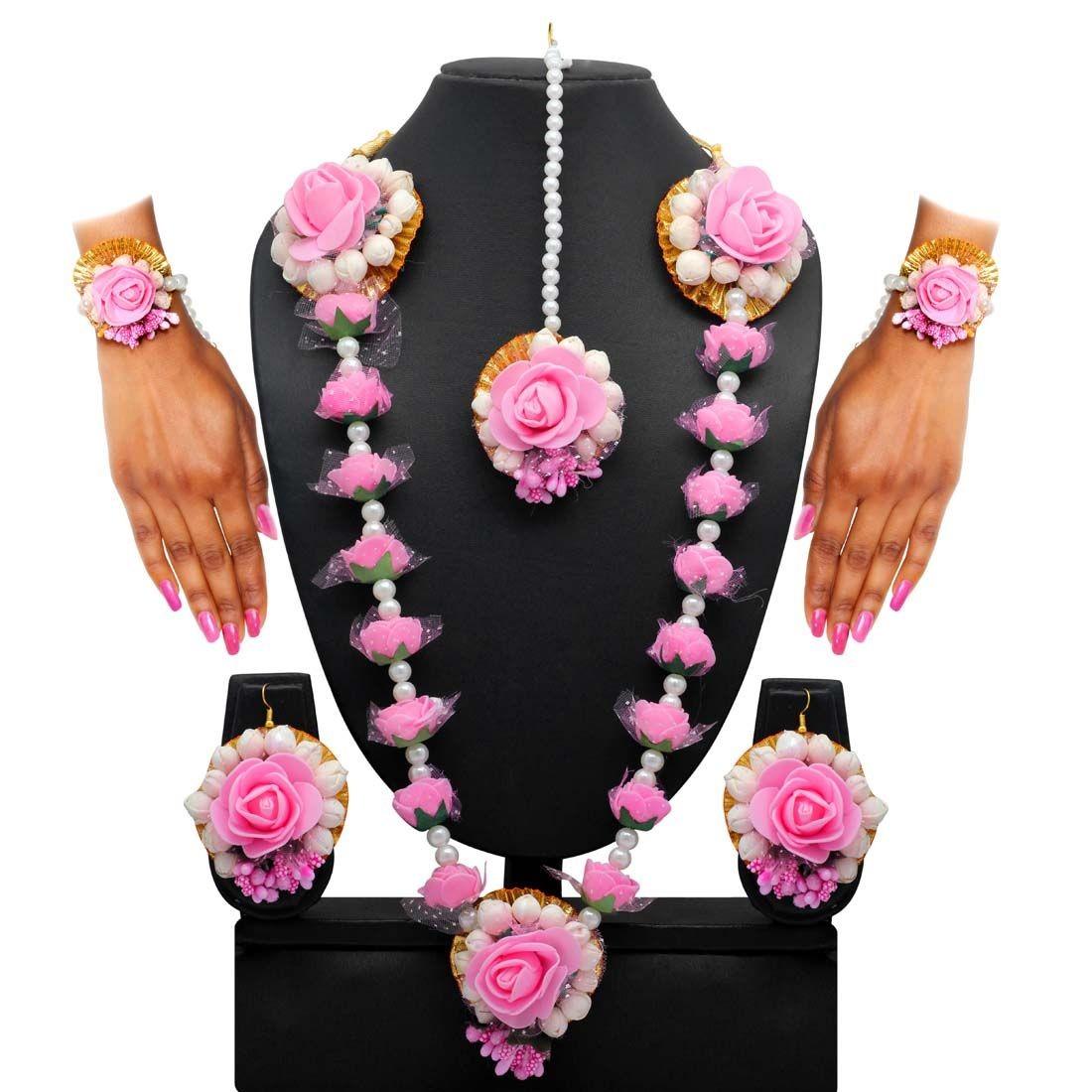 Conjunto rosas ceremonia henna novia india