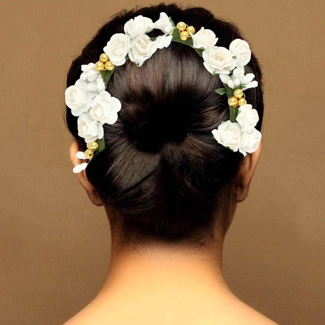 Tocado de novia rosas blancas