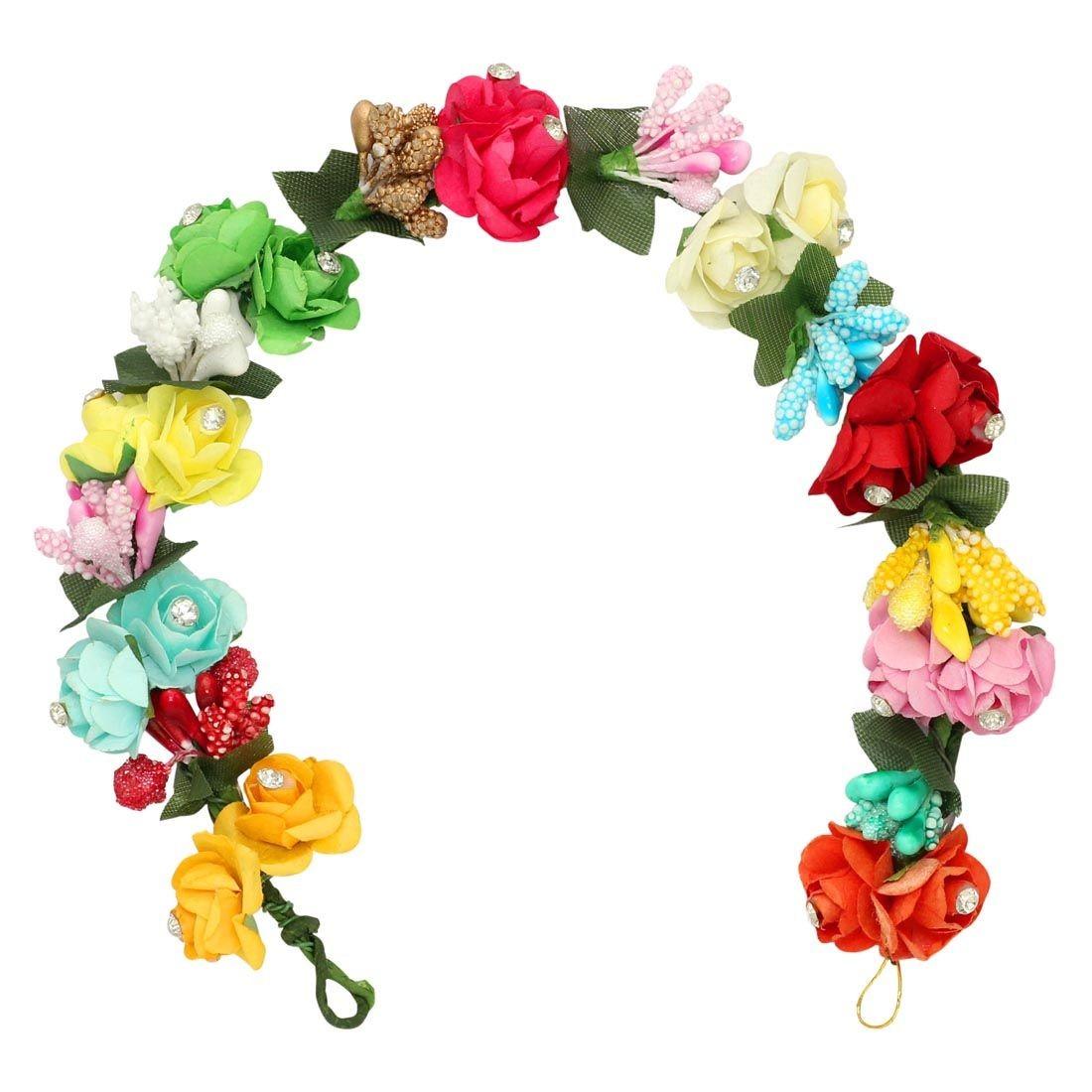 Tocado pelo rosas de 9 colores