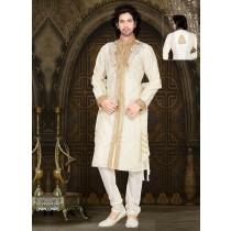 traje árabe blanco