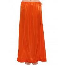 Falda abajo sari naranja