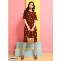 kurti india color chocolate