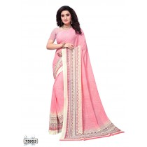saree color rosa pastel y vainilla
